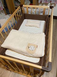 日本 farska 多功能嬰兒床圍欄系列   親子共寢   多功能嬰兒床│大床125x75cm (附安心帶)