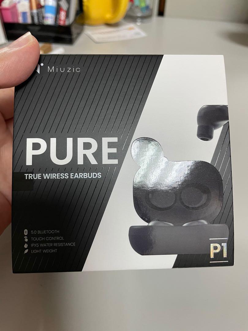 沐音 pure P1輕時尚低音環繞真無線藍芽耳機
