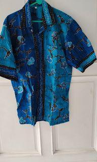 Batik Cowo Biru