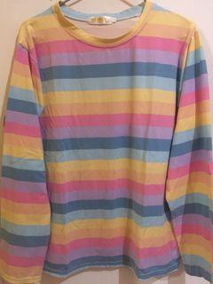 kaos rainbow cotton candy