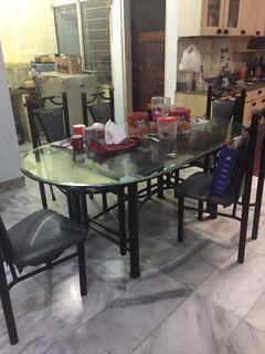 Meja Makan Set 6 Kursi