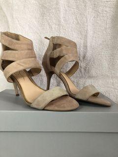 Nude Swede heels