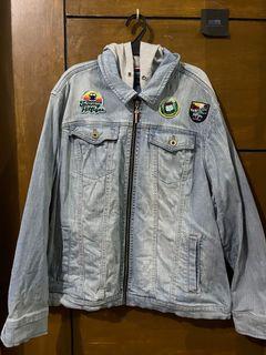 tommy hilfiger denim jacket with hoodie