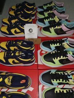 (Us 4.5/5/5.5/6)Nike Dunk Low Michigan & Free.99