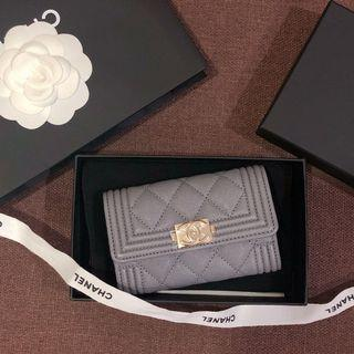 保留)Chanel Boy單層卡包/卡夾/零錢包/名片夾