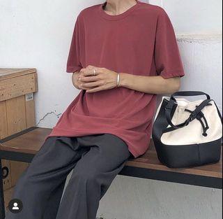 韓國磚紅色短袖上衣