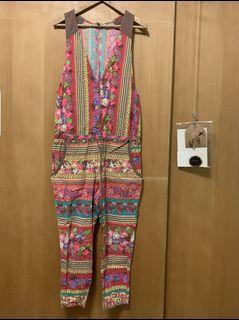 日本品牌 民族風吊帶褲