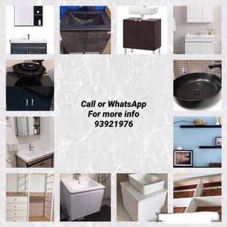 Handyman installation Basin cabinet & mirror cabinet and repair service