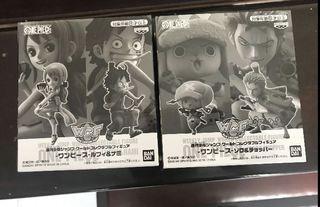 全新日版海賊王 Weekly Jump 和之國限定索隆喬巴路飛娜美一套四隻 WCF (索柏同索隆盒背有少凸)One Piece Luffy Nami Zoro Chopper 卓洛索柏