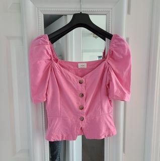 Aritzia Wilfred Pink Blouse Shirt - XS