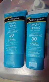 Take All Brand new Neutrogena hydro boost water gel lotion spf30 sunblock sun block