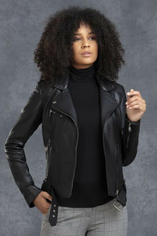 Danier Leather Juliette Biker Moto Leather Jacket