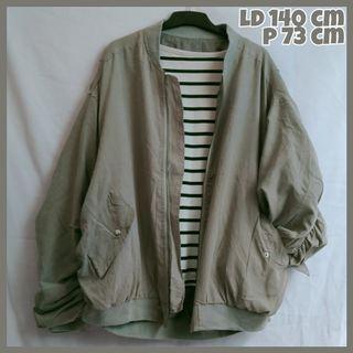 Grey Oversize Bomber Jacket Jaket Bomber Jumbo Bigsize |Tags: Coat Outer Sweater Blazer Cardigan Jaket Thrift