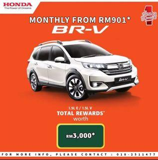 HONDA BR-V MONTHLY FROM RM901*