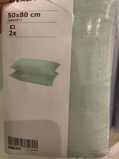IKEA   淺綠枕頭套2件組