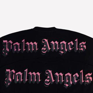 INSTOCK Palm Angels 21SS Double Logo Mock Neck Tee