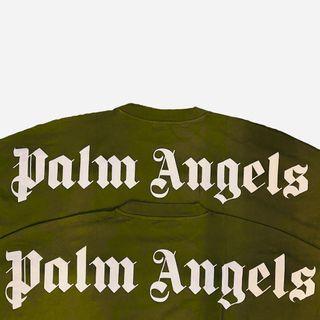 INSTOCK Palm Angels 21SS Khaki Logo Tee