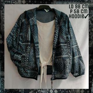 Jaket Batik Parasut Hoodie Bomber Navy Blue |Tags: Coat Outer Sweater Blazer Cardigan Jaket Thrift