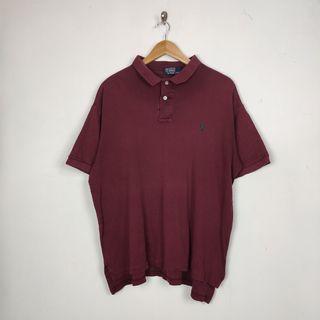 Ralph Lauren maroon polo shirt (boxy fit)