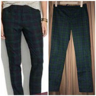 Uniqlo plaid ankle length trouser