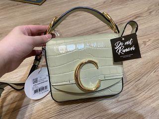 保證真品 Chloe Mini C bag   抹茶拿鐵綠