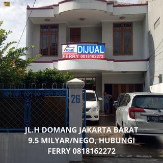 Dijual rumah di jl.H Domang Jakarta Barat , Harga 9.5M/Nego