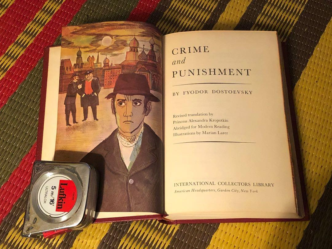 Dostoyevsky crime and punishment international collectors library hardcover edition