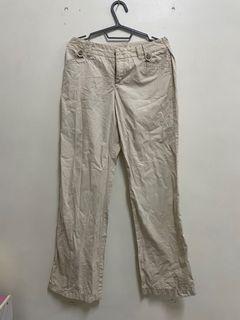 Esprit米色工作長褲