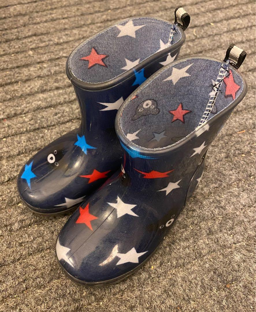 EUC Japan brand Miki house / hot biscuit toddler rain boots (US7 / 14cm)