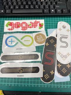 gogoro S2貼紙「透明飾板+貼、踏板貼、照片上全部都賣」