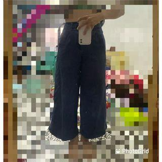 高腰牛仔寬褲L