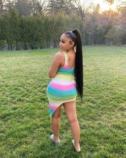 Ladies Candy Stripe Dress