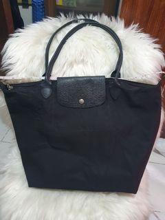 Longchamp Le Pliage Large Black Nylon Bag