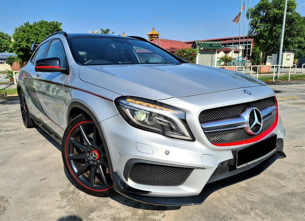 Mercedes-Benz GLA45 AMG 2.0 MATIC SUV[FULL SERVICE RECORD][LOW MILEAGE 50K KM ONLY][LIKE NEW]