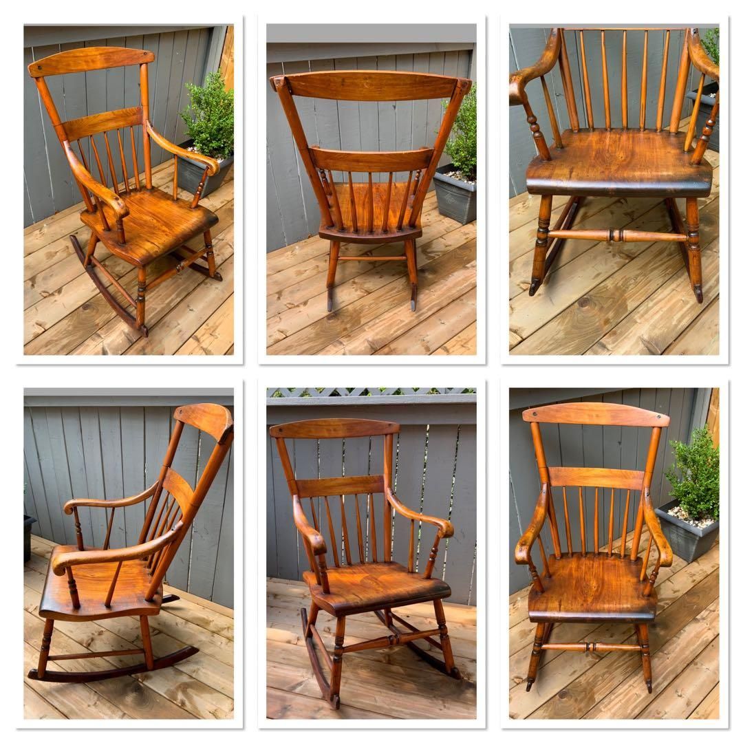 ONE Antique Muskoka rocking chair from an 1899 Lake Rosseau,Muskoka cottage