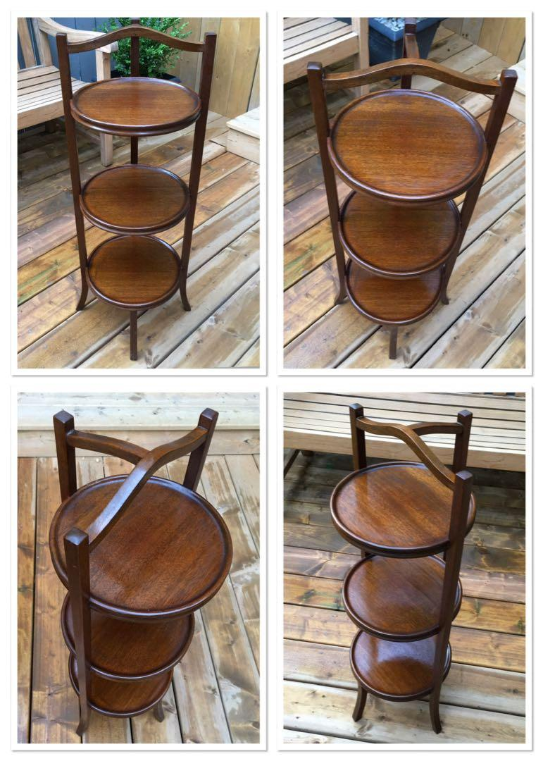 ONE Beautiful Vintage mahogany 3 tier stand(1930's)
