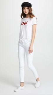 Paige Skyline Ankle Peg Jeans in Crisp White on sale!