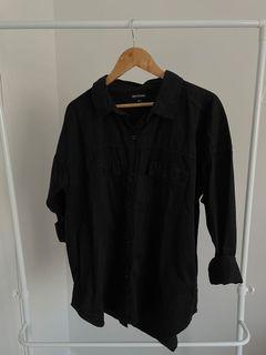 PLT Oversized Denim Shirt - Size 14