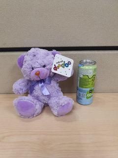 Super cute Teddy Bear Green Purple