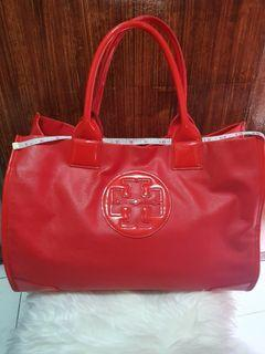 Tory Burch Large Ella Coated Canvass Tote