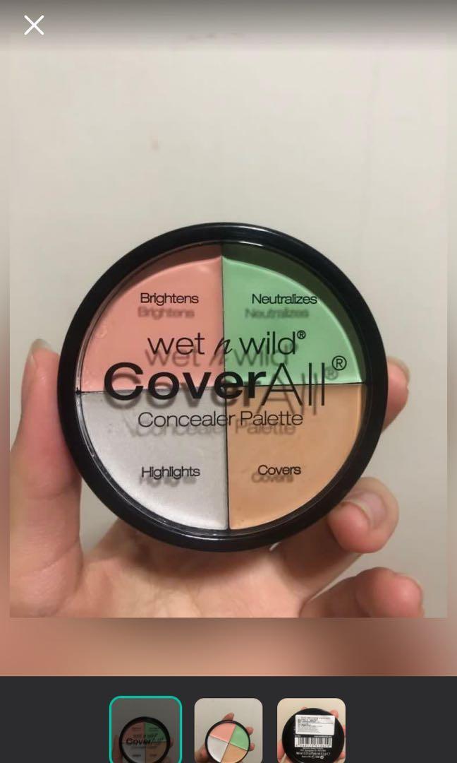 Wet n wild 精準校色遮瑕盤 僅試色  可換物