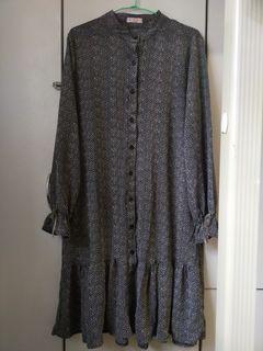 長袖薄洋裝