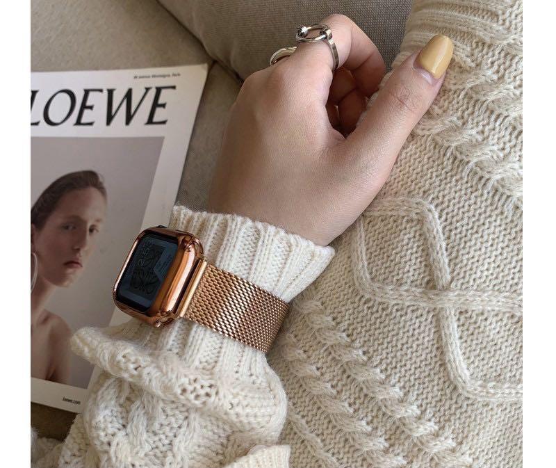 編織錶帶 粗網錶帶 金屬錶帶  4/5/6 SE代錶帶 APPLE WATCH錶帶 蘋果錶帶 女士錶帶