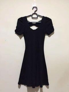 Black Ribbon Back Dress