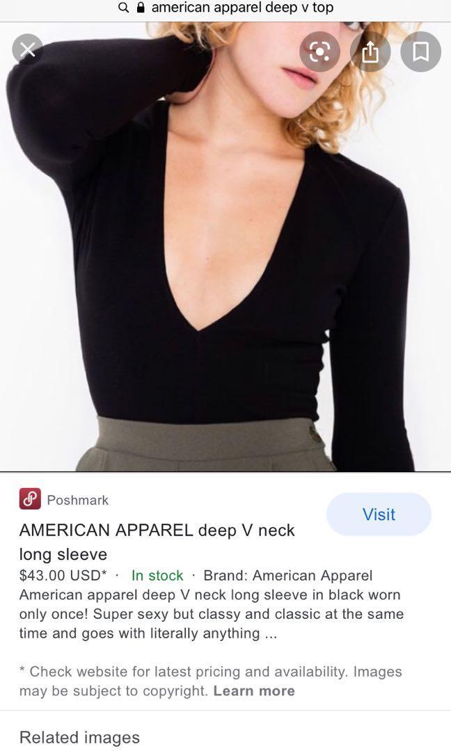 Deep V American apparel top