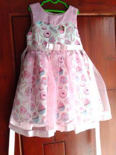 Dress anak / dress cupcake / dress pesta anak / party dress anak