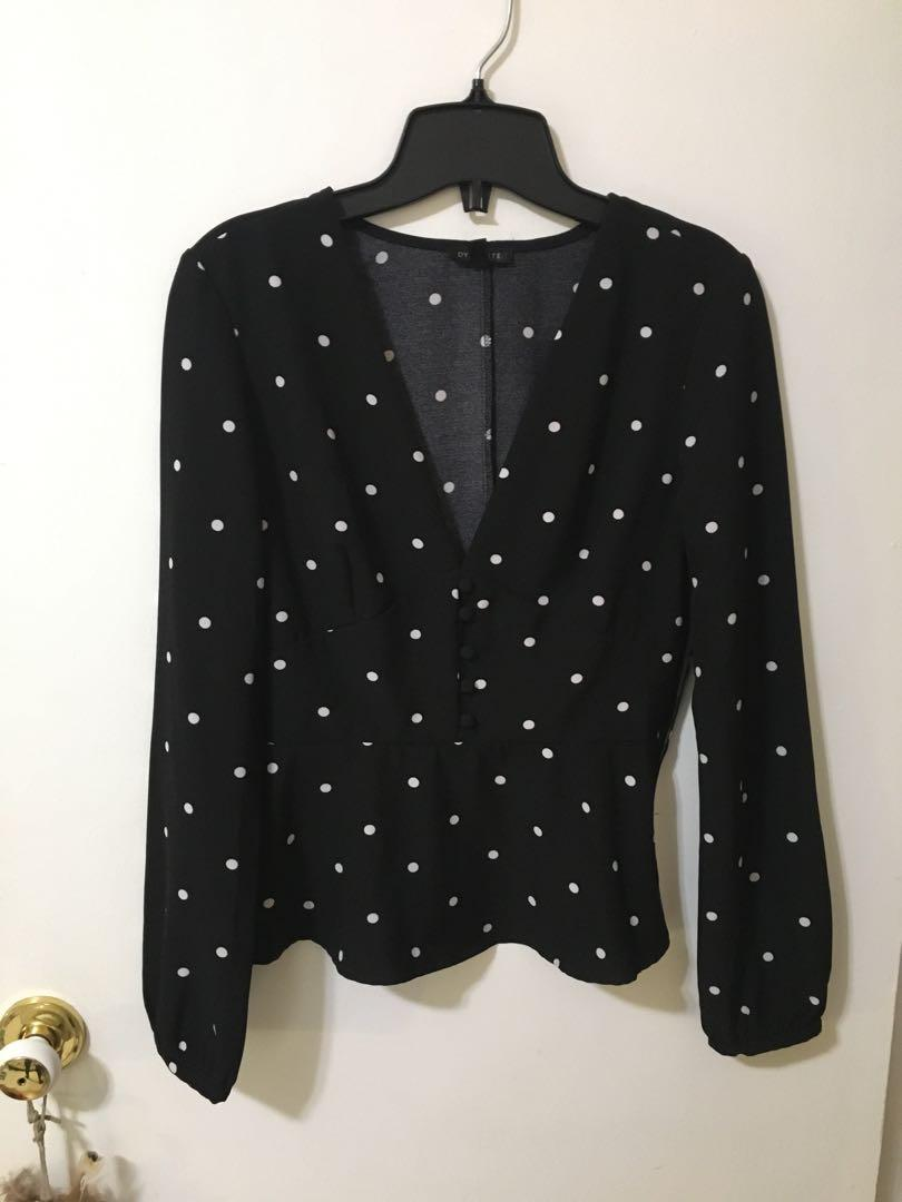 Dynamite polka dot top