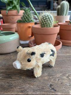 Handmade Straw Pig from Germany
