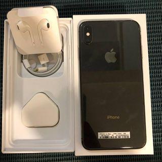 iPhone XS Max 256GB Dual SIM Nano Bekas Mulus Murah Space Grey