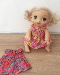 New baby alive snackin sara dress
